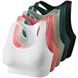 Women's Active Seamless Sports Bra-High Impact Support Workout Tops for Yoga Gym Fitness