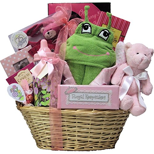 Great Arrivals Baby Gift Basket, Congratulations Baby Girl