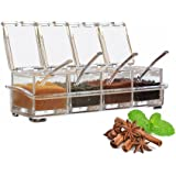 Seasoning Spice Box Set Condiment Dispenser Container Bottle Spice Jars Plastic for Salt Sugar Crute by Churun