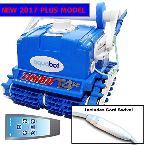 2017 Aquabot Turbo T4-RC Plus w Swivel & RC Robotic Pool Cleaner