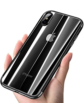 ANOLE Case Apple iPhone Xs Max, Ultra-Thin Clear Soft Flexible TPU Slim #02