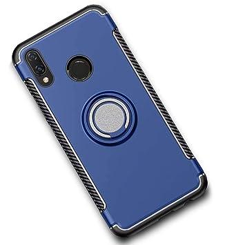 LAGUI Funda Adecuado para Huawei Honor 8X, Carcasa con Anilla Posterior y Placa de Metal, Robusta Caja Híbrida TPU/PC de Doble Capa, Soporte de ...