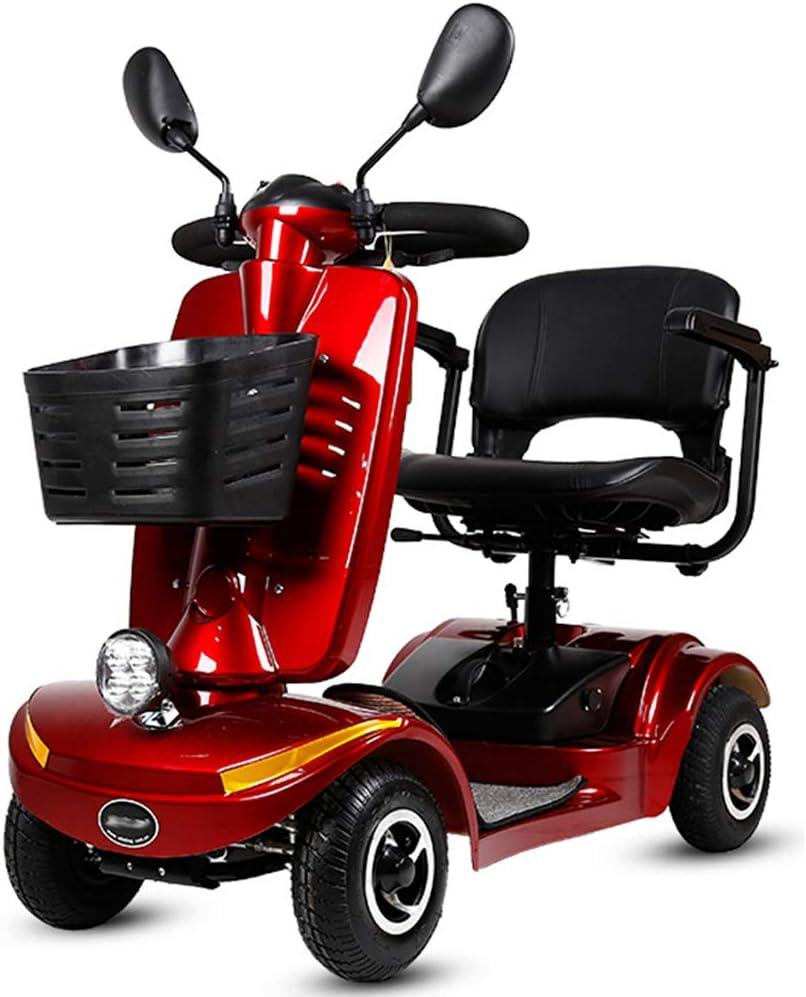 Moto Para Personas Mayores,scooter Electrico Plegable Minusválidos Plegable Litio 0-10km/h 250w Motor,patinete Compacto 4 Ruedas,360° Asiento Giratorio,sistema Inteligente Eléctrico