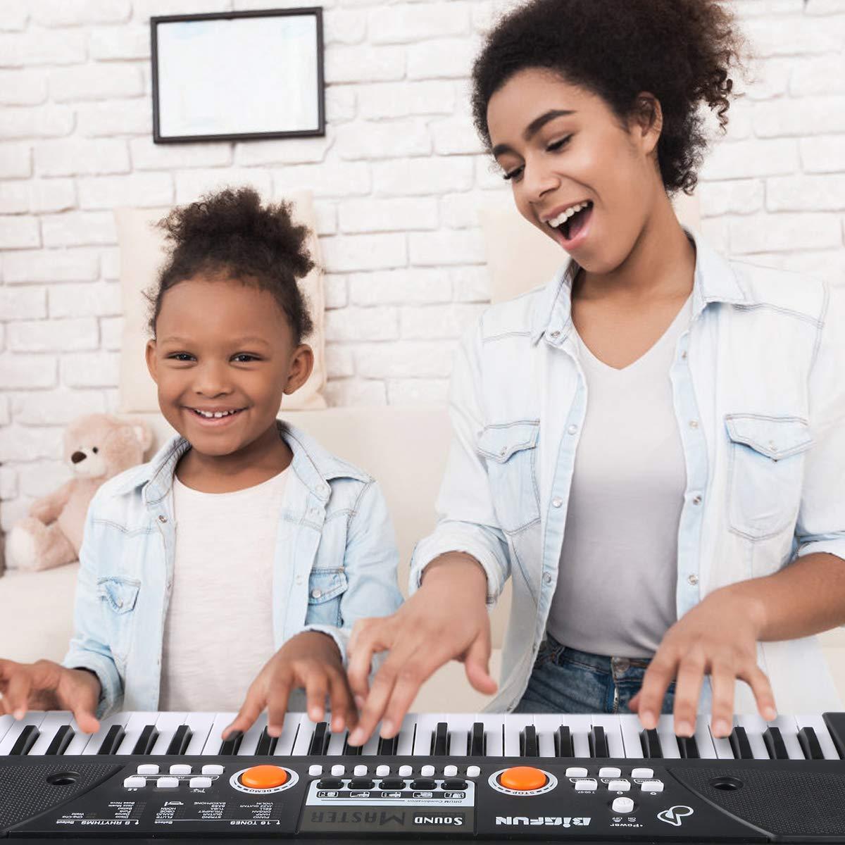 RenFox 49 Key Piano Keyboard Portable Electronic Kids Piano Keyboard Beginner Digital Music Piano Keyboard & Microphone Teaching Toy Gift for Kids Boy Girl by RenFox (Image #7)