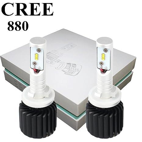 880 LED Kit de conversión de bombillas para faros delanteros CREE 12000LM 6500 K Canbus)