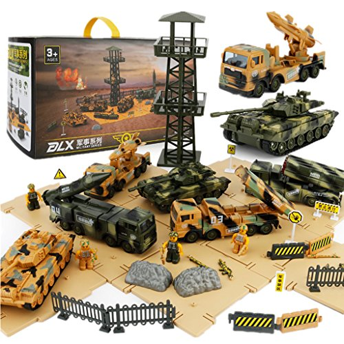 hot sale Military Vehicles and Army Battle Site Set with Storage