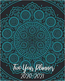 2020-2021 Two Year Planner: Blue Mandala, 24 Months Planner ...