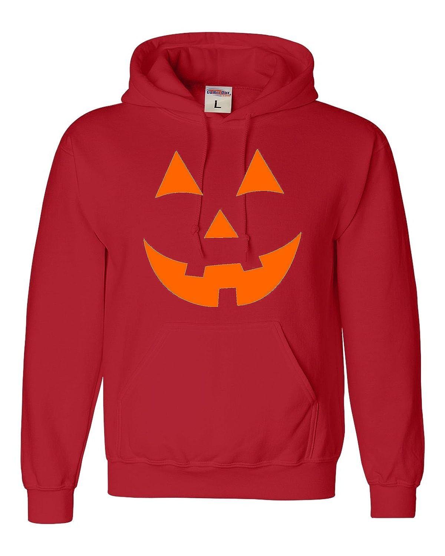 Adult Jack O Lantern Pumpkin Face Halloween Funny Sweatshirt Hoodie