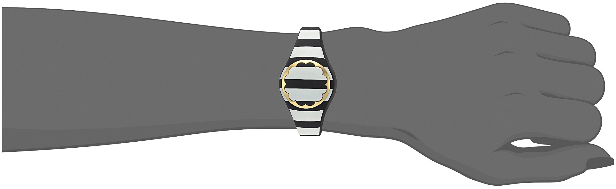 Kate Spade New York black and white stripe scallop activity tracker by Kate Spade New York (Image #7)