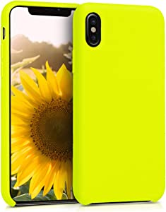kwmobile TPU Silicone Case Compatible with Apple iPhone X - Soft Flexible Rubber Protective Cover - Lemon Yellow