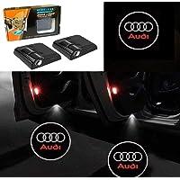LSDD 2Pcs Wireless Universal Car Projection LED Projector Door Shadow Light Welcome Light Laser Emblem Logo Lamps Kit No…