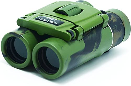 Small Lightweight Compact Binoculars 8×21 Binoculars for Kids Adults Mini Folding Binoculars for Bird Watching Traveling Sightseeing Concert Theater Opera Green