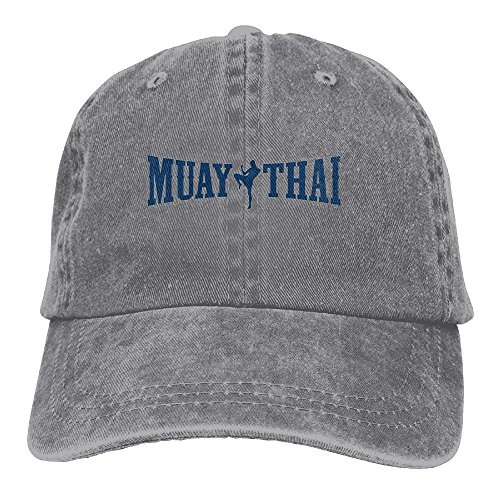 JXSED Muay Thai Logo Kickboxing Sport Classic Cotton Dad Hat Adjustable Plain Cap Custom Denim Baseball Cap for (Kick The Bucket Costume)