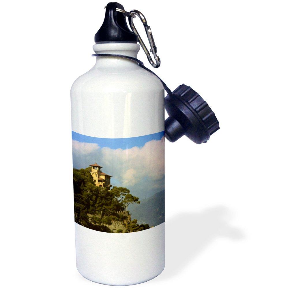 3dRose wb_82120_1 ''Italy, Portofino, Mediterranean coast EU16 KWI0003 Kymri Wilt'' Sports Water Bottle, 21 oz, White