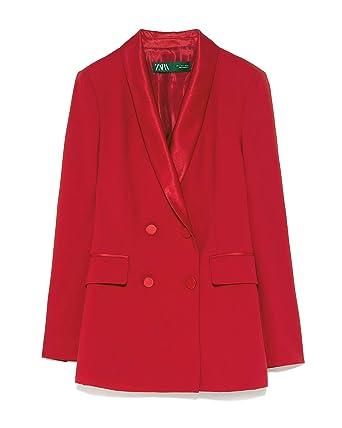 Zara 7906/783/601 - Blazer de Doble Pecho para Mujer con Cuello de ...