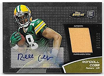 on sale 2aa8f 4fb9d Amazon.com: 2011 Topps Finest #RC Randall Cobb Rookie Jersey ...