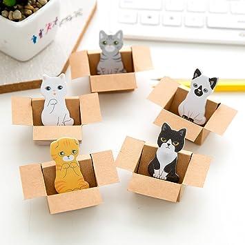 hppt Cute Kitty gato casa perro marcapáginas notas adhesivas: Amazon.es: Oficina y papelería