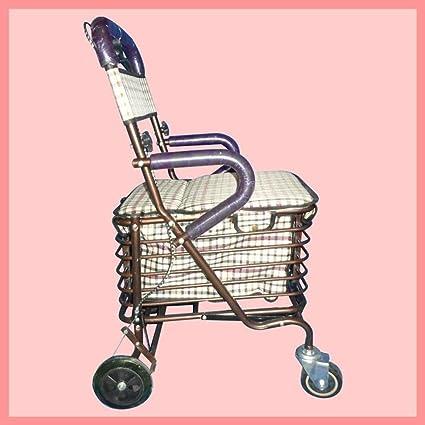 Carro de la compra carrito de la compra Hierro Antiguos plegable portable Supermercado Atada Moneda para