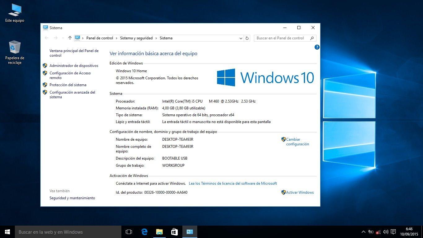 Windows 10 Aniversario Home 64-Bits Española Memoria USB ...