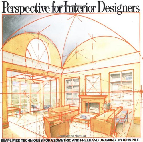 Amazon Perspective For Interior Designers Simplified Techniques Geometric And Freehand Drawing 9780823040087 John Pile Books