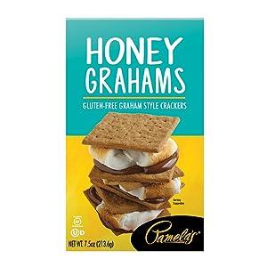 Pamela's Products Gluten Free Graham Crackers, Honey (Pack of 6)