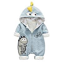 ARAUS Newborn Snowsuit Hooded Jumpsuit Baby Girl Boy Animal Fur Lining Romper Winter Warm Clothes 3-14 Months