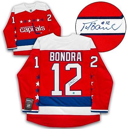 249510a8b0c Image Unavailable. Image not available for. Color  Peter Bondra Washington  Capitals Autographed Retro Alt Fanatics Hockey Jersey