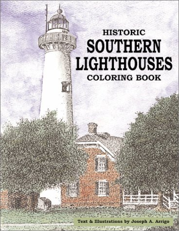 Historic Southern Lighthouses Adult Coloring Book