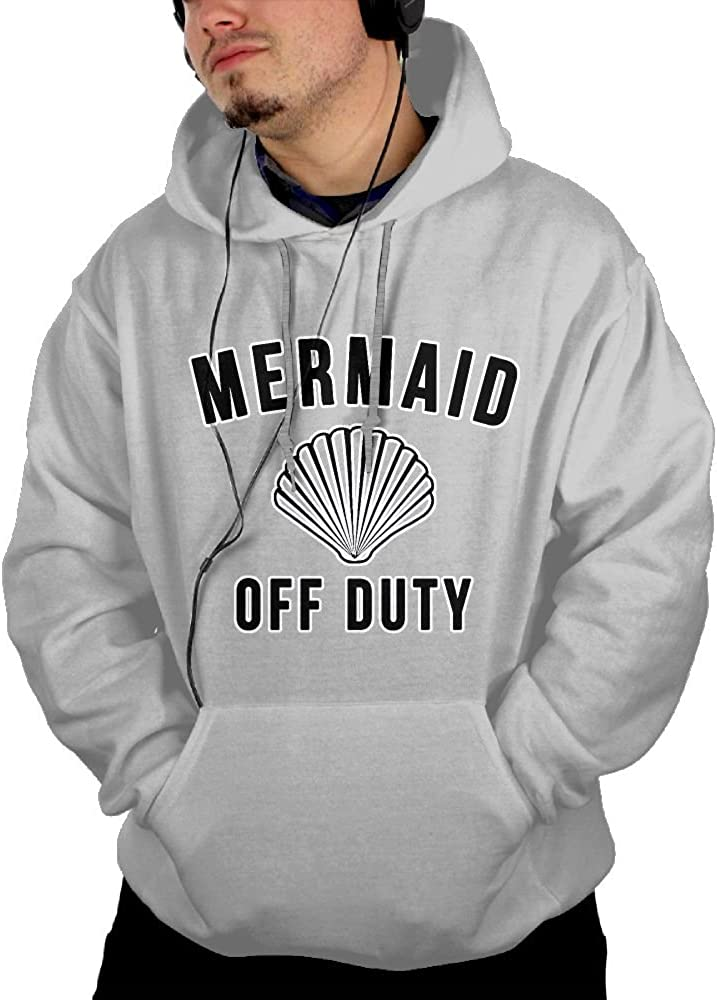 JIN YONG Mermaid Off Duty With Shell Men Cotton Long Sleeved Pullover Casual Hoodies Hooded Sweatshirt Graphic Hoodie