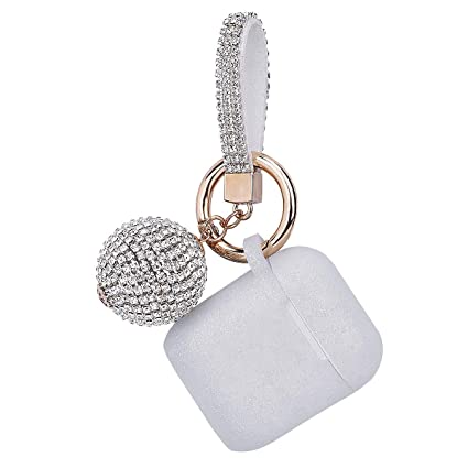 the latest 52035 e632e Apple Airpods Case Keychain, Filoto Airpods Silicone Glittery Case, Scratch  Proof and Drop Proof Air Pods Protective Cover Skin with Shiny Ball Key ...