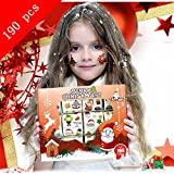 Over 190 Assorted Christmas Temporary Tattoo for Kids, Kalolary Cute Designs Stick on Children Tattoos