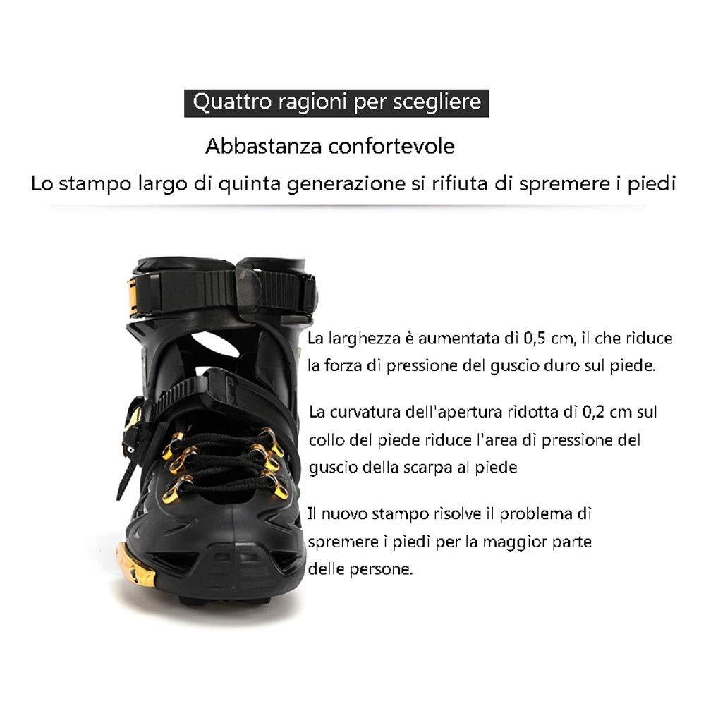 XDSAインラインスケート インラインスケート、成人用1列スケート、プロの男性と女性、子供用(3色) (Color : Black, Size : EU 43/US 10/UK 9/JP 26.5cm)   B07SQ53CP2