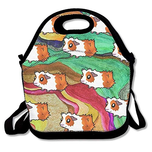 Pop Art Guinea Pig Pattern Lunch Tote Bag Bags Awesome Lunch Handbag Lunchbox Box For School Work Outdoor