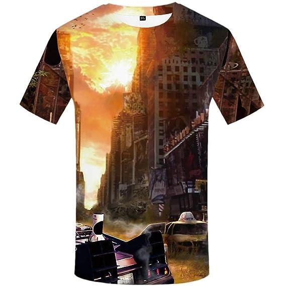 Doux Et Confortable Impression Num/érique 3D WHLTX T-Shirt Cr/éatif Manches Courtes Grande Taille /À S/échage Rapide