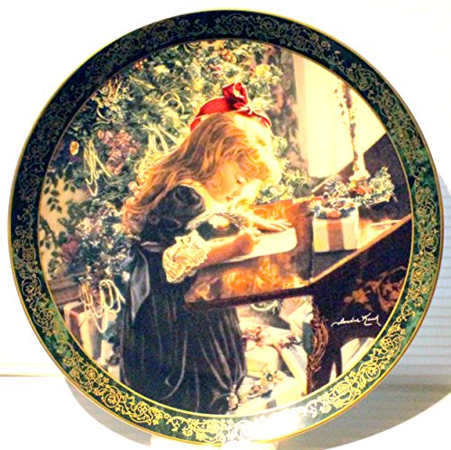 The Bradford Exchange Dear Santa ~ Sandra Kuck Limited Edition Plate ~ Bradex 84-R60-047.1 ~ Victorian Christmas Collection ~ Rare ~ Collectible