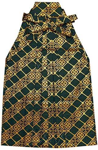 七五三 袴 5歳 男の子 金襴生地の袴 60cm 単品 合繊「深緑 花菱」OHB60-1733tan