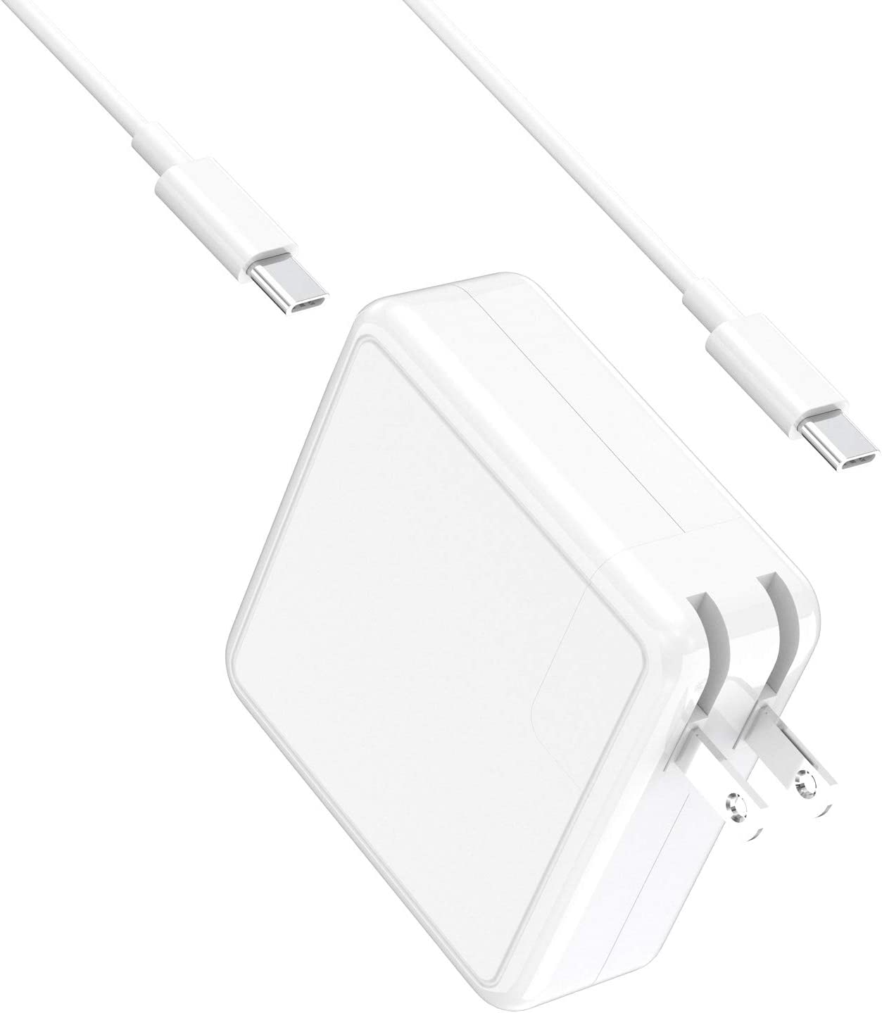 SIMPFUN Mac Book Pro Charger USB C 61W Compatible with 13/15 inch Mac Book Pro, Mac Book Air, Mac Book, iPad Pro, Replacement Charger for Xiaomi, Huawei Matebook and Other Type C Devices (2016-2020)