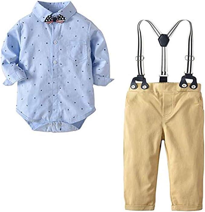 Kinder Baby Junge Gentleman Kleidung Kleinkind Strampler Body Overall Outfits