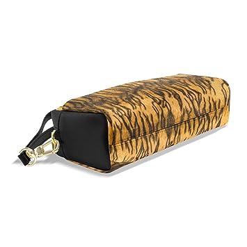 6f8253eadb Zzkko Tiger cerniera matita della penna cancelleria borsa trucco cosmetici  borsa borsetta in pelle stampa: Amazon.it: Cancelleria e prodotti per  ufficio
