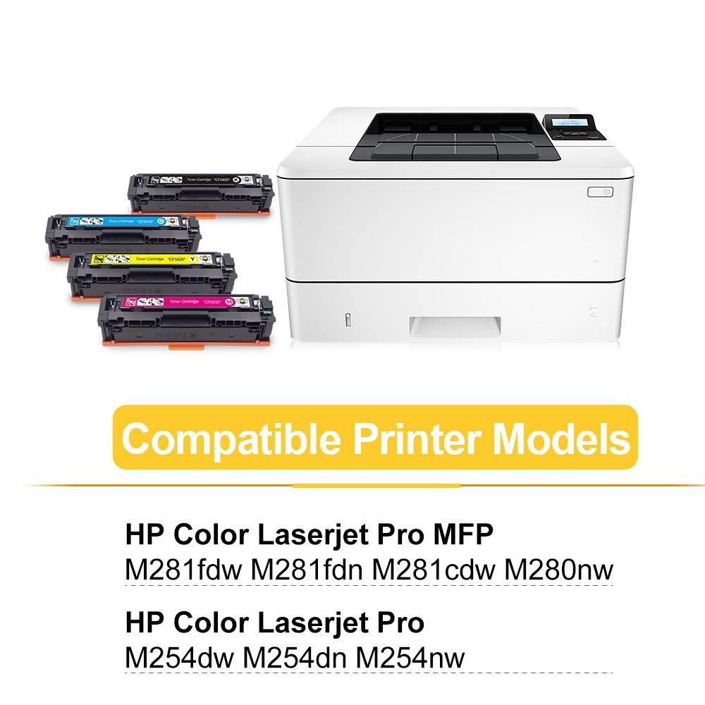 CMYBabee Compatible para Cartucho Toner HP 203X CF540X 203A CF540A ...