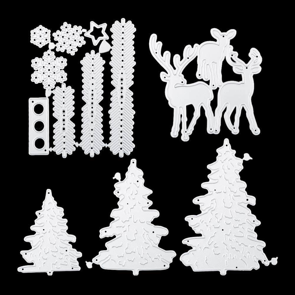 VINFUTUR 2 Sets Christmas Cutting Dies Angel Embossing Stencil Cutting Dies for Card Making DIY Scrapbooking Embossing Stencil Mould Template