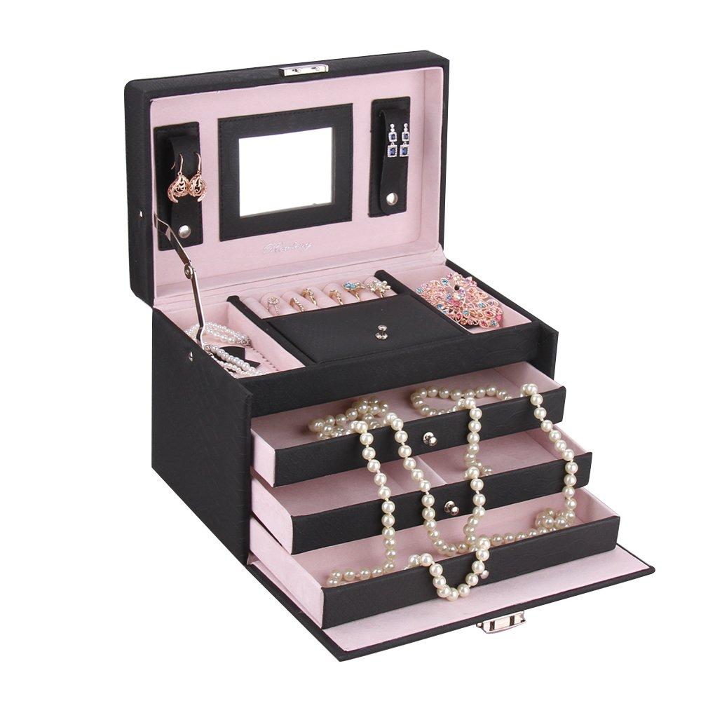 coffret /à bijoux noir Rowling ZG-091 Bo/îte /à bijoux