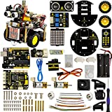 KEYESTUDIO Smart Turtle Robot Car V2.0 for Arduino Projects, Graphical Programming Robotics for Kids Age 12+, Stem Education Kids Toys for Christmas