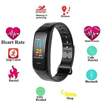 Teepao Ip67 Pulsera Actividad con Pantalla Color Pulsómetro Ritmo Cardíaco,Fitness Activity Tracker Presión Arterial Inteligente Reloj Smart Bracelet Watch ...