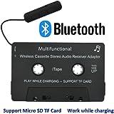 iTape Cassette Adaptateur Voiture Bluetooth Travail en Charge de Charge TF Carte CSR Bluetooth V4.1 + EDR Stéréo Audio Adaptateur Récepteur pour Voiture