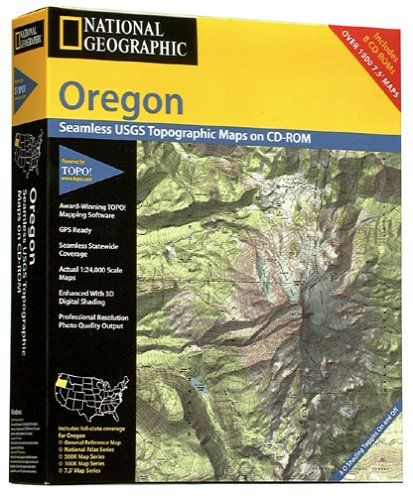 National Geographic TOPO! Oregon Map CD-ROM (Cd Rom Emulator)