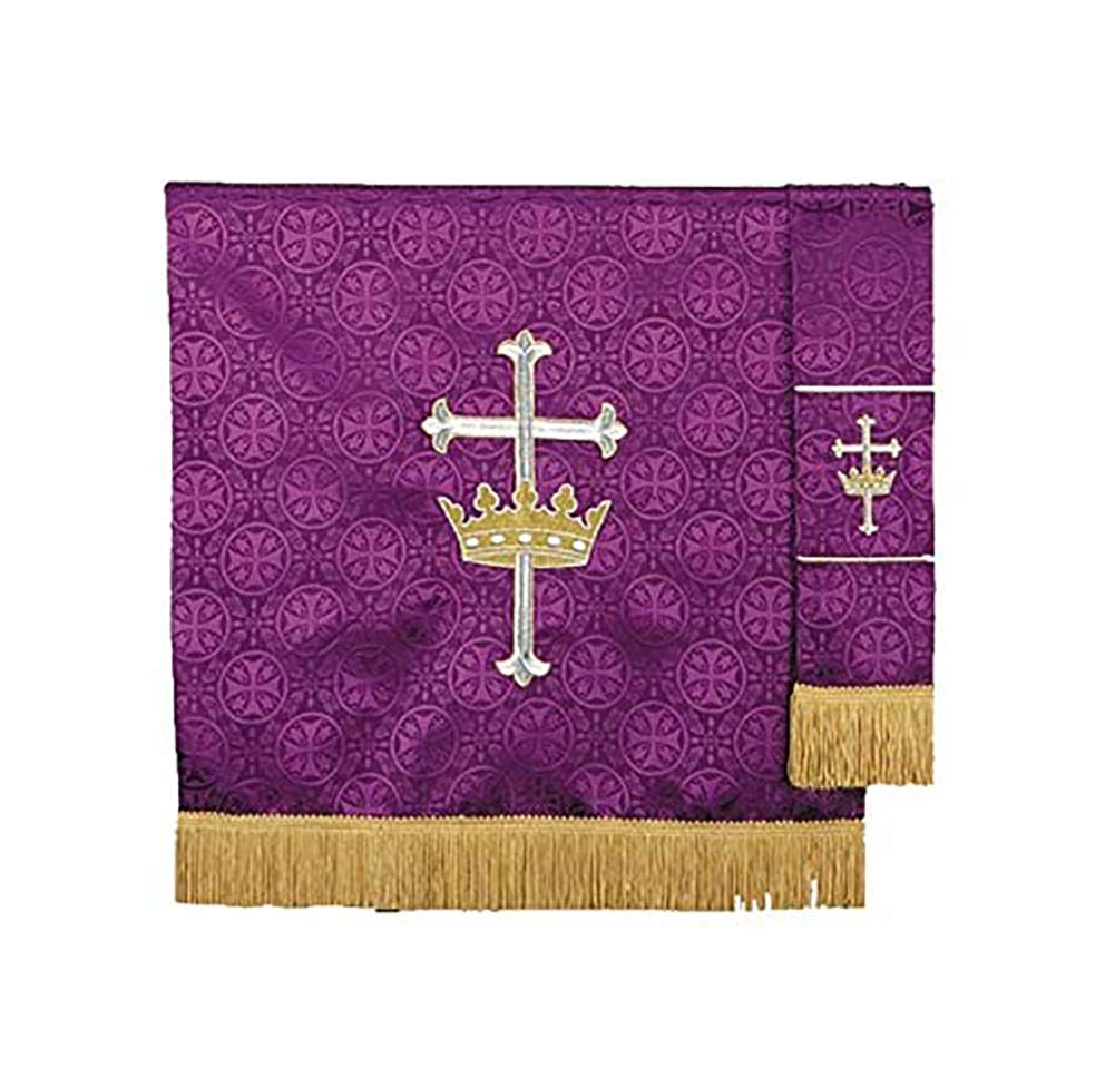 R.J. Toomey Purple Polyester King of Kings Embroidered Pulpit Scarf, 38 Inch
