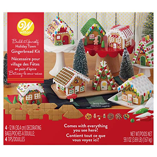 - Wilton Build-it-Yourself Gingerbread Village Decorating Kit
