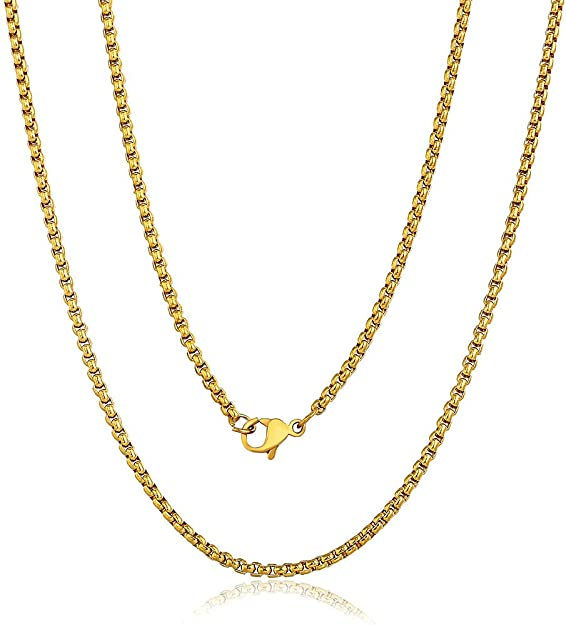 1mm Singapore Chain Rose Gold Plated D115 Chains NP-2075 18-20 Necklace Chain 18-20 inch chains 2pcs Twisted Thin Chain