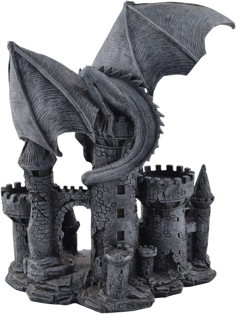 Vogler 3er Teelichthalter Drache cm Dragon Burg Figur Kerzenhalter Teelicht Halter